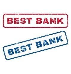 Best bank rubber stamps vector