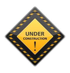Black Under Construction Sign vector image
