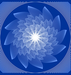 blue circle mandala in optical art style for vector image