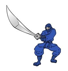 blue ninja vector image