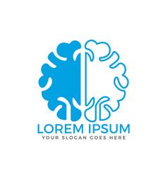 Brain logo design vector