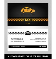 Business cards taxi cab vector