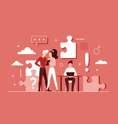 business people teamwork on success idea abstract vector image