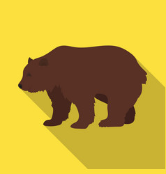 canadian brown bear canada single icon in flat vector image