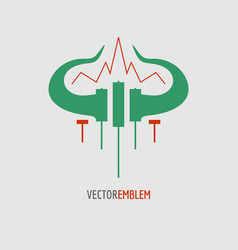 candlestick trading emblem vector image
