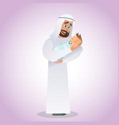 cartoon concept happy father vector image