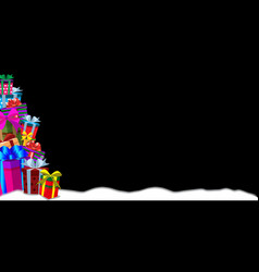 christmas or new year gifts greeting banner vector image