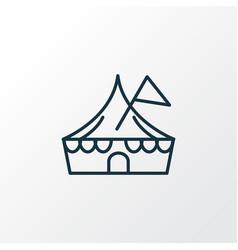 circus icon line symbol premium quality isolated vector image