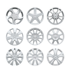 close up of rims car alloy wheel aluminum wheel vector image