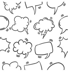 Collection of speech bubble pattern style vector
