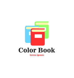 Color book logo vector
