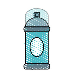 Color crayon stripe cartoon aerosol can with lid vector
