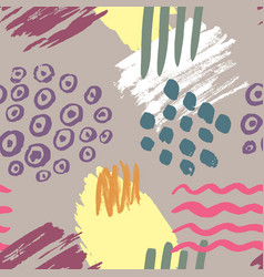 color ink brushes grunge seamless pattern vector image