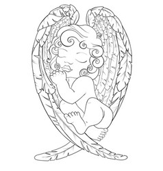 coloring page for adult kids coloring book vector image