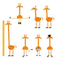 cute giraffe characters set vector image