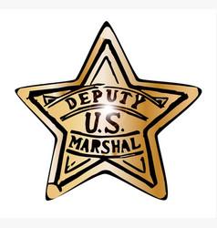 Deputy us marshal star vector