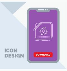 design app logo application design line icon in vector image