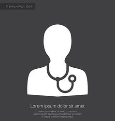 doctor premium icon white on dark background vector image
