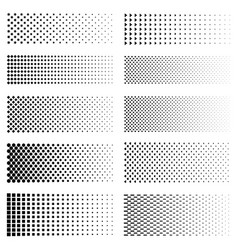 dotted gradient set vector image