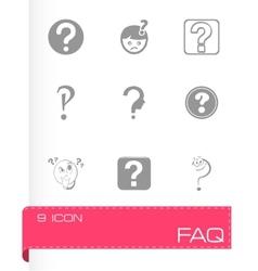 FAQ icons set vector