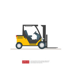 forklift truck warehouse fork loader icon vector image