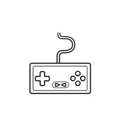 game console hand drawn outline doodle icon vector image