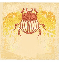 Golden Scarab background vector image