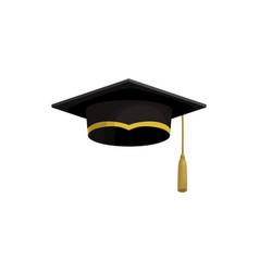 graduation cap college university student hat vector image