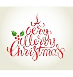 hand drawn christmas card vector image