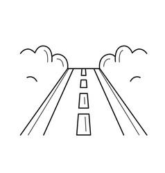 Highway road line icon vector