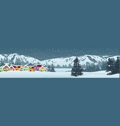 holiday winter landscape background vector image