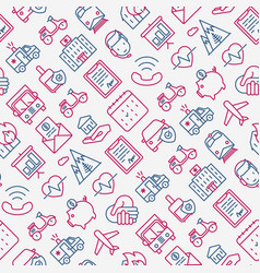 Insurance seamless pattern vector