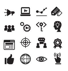 Internet marketing icon set vector