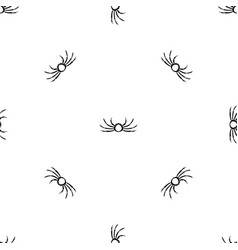japanese spider crab pattern seamless black vector image