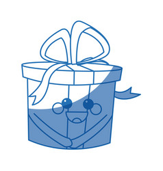 Kawaii gift box party celebration cartoon icon vector