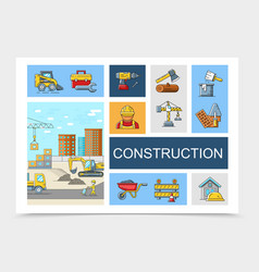 linear construction elements collection vector image