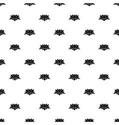 Lotus flower pattern simple style vector