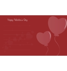 Love balloon for valentine day vector