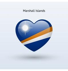 Love Marshall Islands symbol Heart flag icon vector