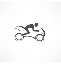 Motorcyclist icon vector