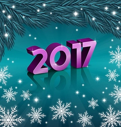 New 2017 Year on turquoise background vector