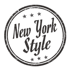 new york style grunge rubber stamp vector image