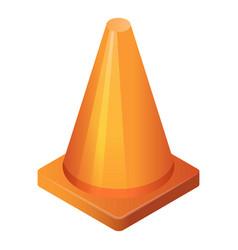 Orange cone icon isometric style vector