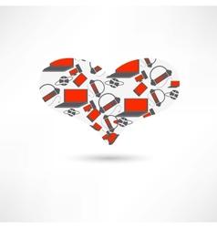Pattern heart electronics vector