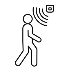 People motion sensor icon outline style vector