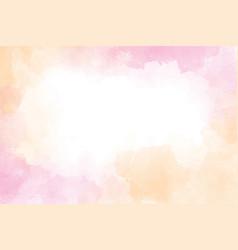 Pink and gold wet wash splash watercolor frame vector