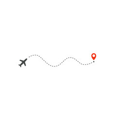 plane way icon airplane wave path direction and vector image