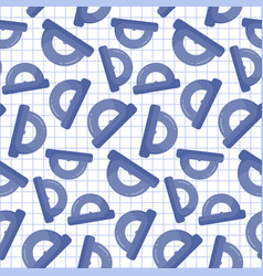 Protractor seamless pattern vector