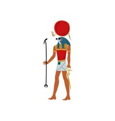 ra god sun symbol ancient egyptian culture vector image