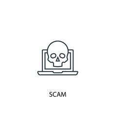 scam concept line icon simple element vector image